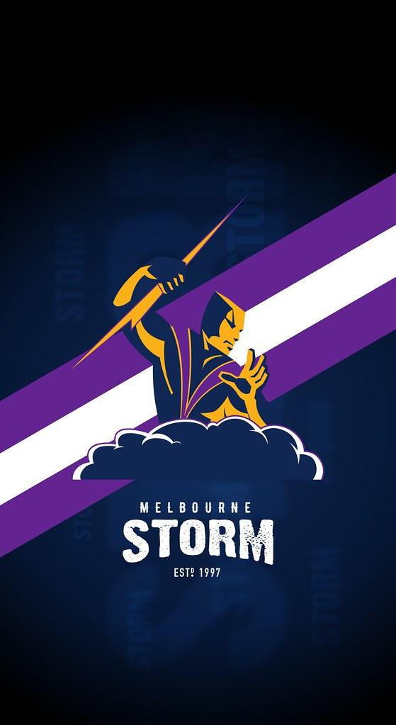 Melbourne Storm Iphone X Lock Screen Wallpaper Splash This Flickr