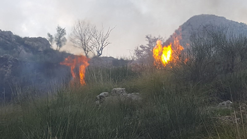 Incendio san Giovanni a Piro 8 aprile