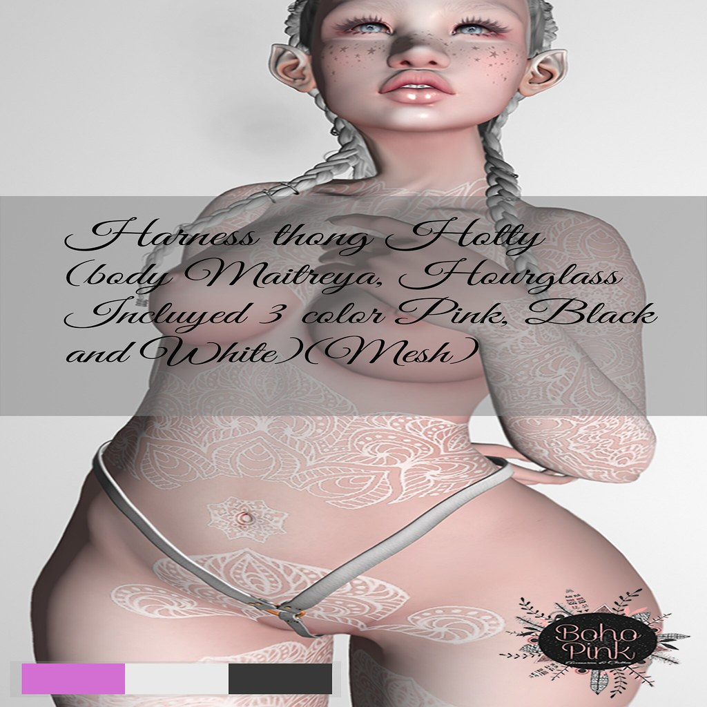 Boho Pink Harness Thong Hotty NEW!!! - TeleportHub.com Live!