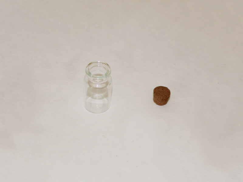 open glass bottle