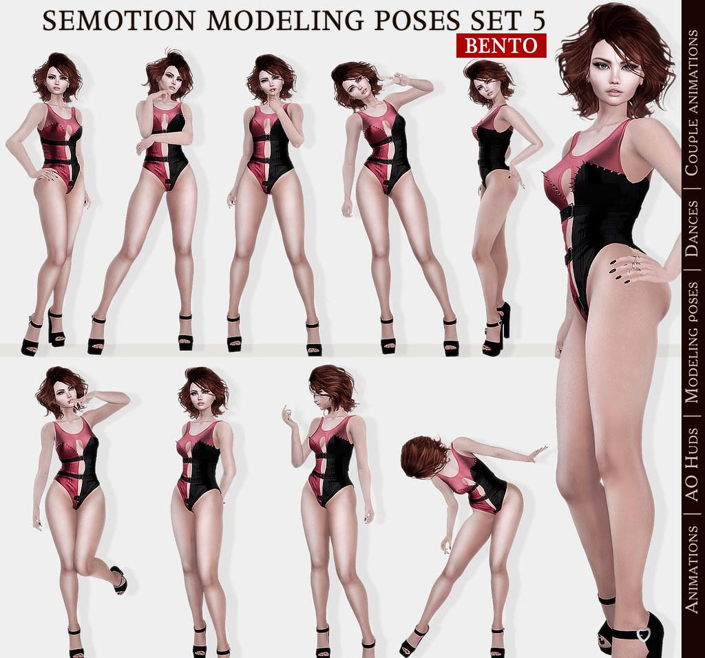 SEmotion Female Bento Modeling poses Set 5 - 10 static poses - TeleportHub.com Live!