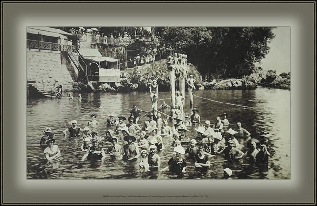 6334 MuzCroOpatTouris The Croatian Museum of Tourism Opatija Croatia Angiolina beach Year 1899. HMT-256