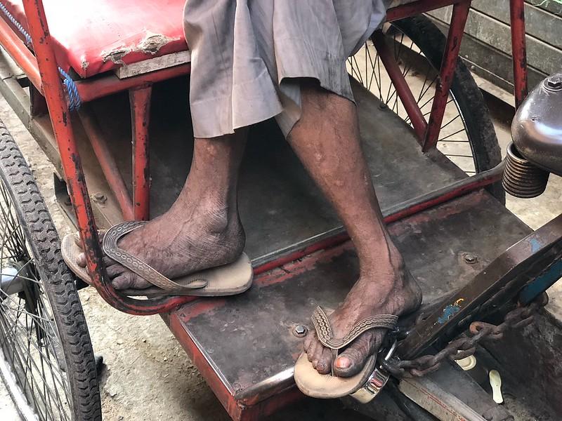 A Rickshaw Puller's Fresh Morning Feet