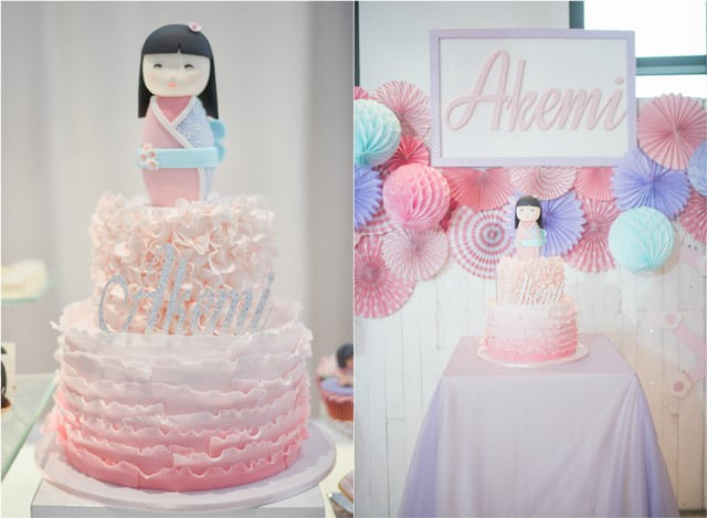 girly japanese party cakeA