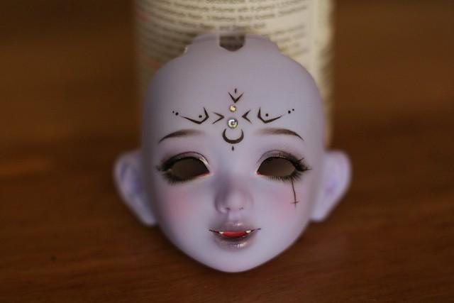 [Ventes] Bjd Chibi Unoa halloween vers. Violet skin Fullset  40341950204_a98e94ecda_z