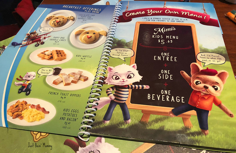 Mimi's cafe kids menu