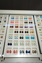 Earrings of gemstones