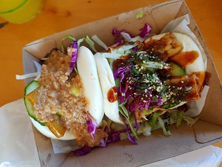 Satay Bao and Super Bao from Malaysia Nonya House at Brisbane Vegan Markets
