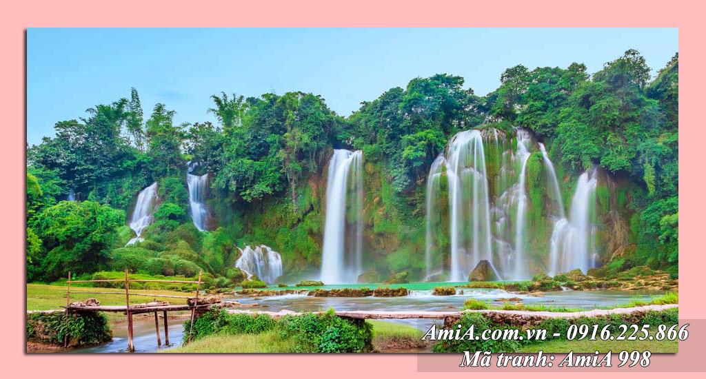 AmiA 998 - Tranh thác nước đẹp phong cảnh quê hương ở bản Giốc