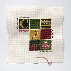 Christmas 9 Patch Pillow, as of 3/14/18