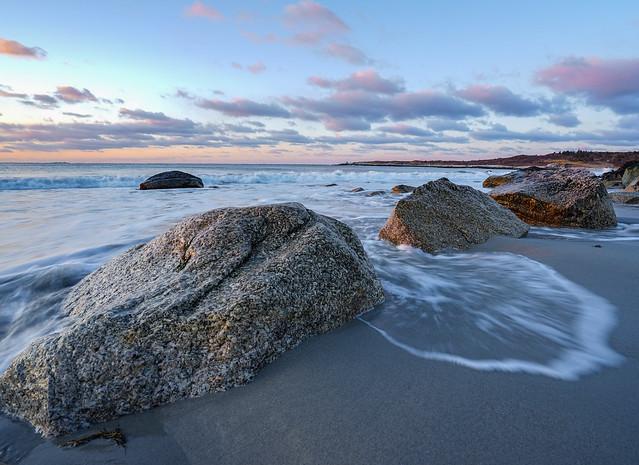 Sunrise at the beach Crystal Crescent Beach, NS