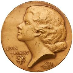 Jean Harlow medal by Adam Peitz obverse