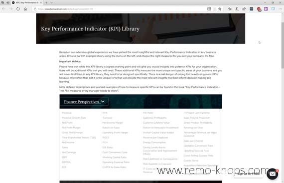 Key Performance Indicator (KPI) Library - Bernard Marr 311