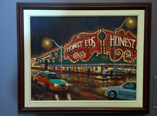 Honest Ed's, 2015 #toronto #tdgallery #brentarlitt #honesteds #painting #torontorevealed #torontoreferencelibrary #latergram