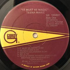 TEENA MARIE:IT MUST BE MAGIC(LABEL SIDE-A)