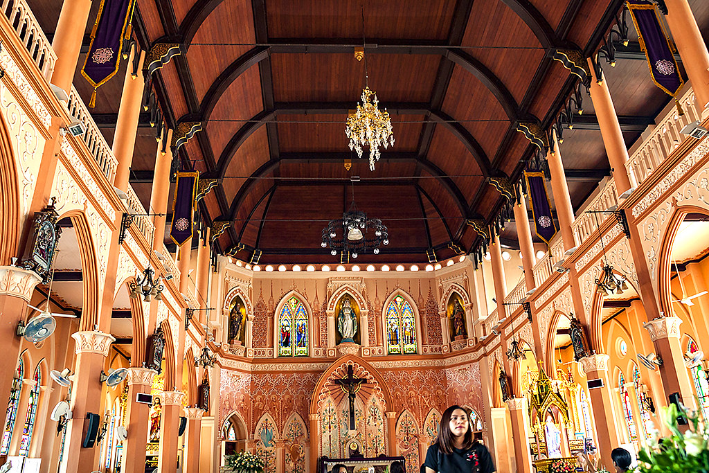 Inside cathedral--Chanthaburi