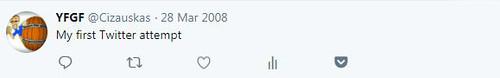 My first tweet