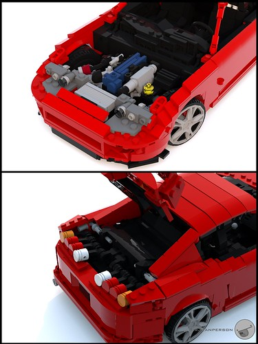 Toyota Supra engine and boot - 16-wide - Lego