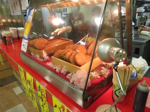 福島競馬場の肉の上杉の揚げ物