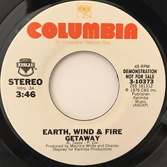 EARTH, WIND & FIRE:GETAWAY(LABEL SIDE-A)