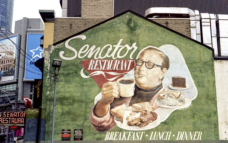 The Senator Restaurant Mural Holding Up Well