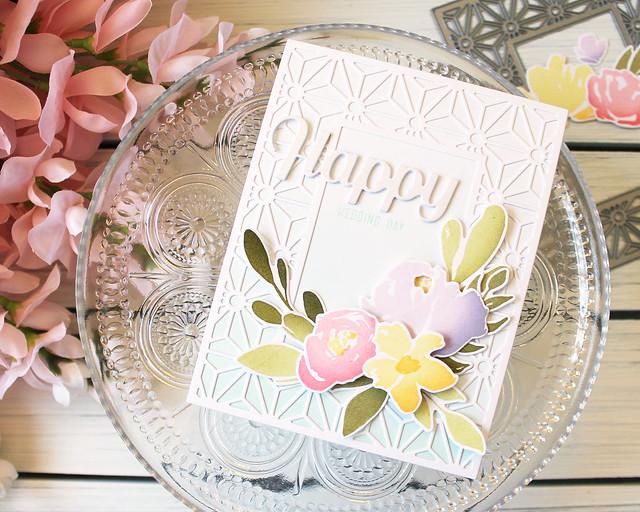 LizzieJones_April2018_PapertreyInk_BotanicalBounty_BoldBorders_HappyWeddingDayCard
