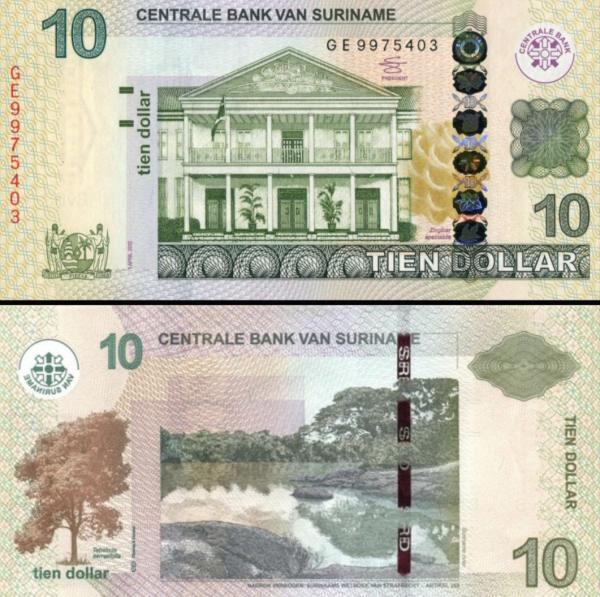 10 Dolárov Surinam 2012, P163b