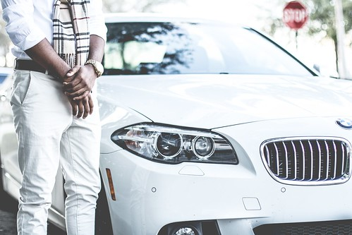 Man and white BMW | by Bestpicko
