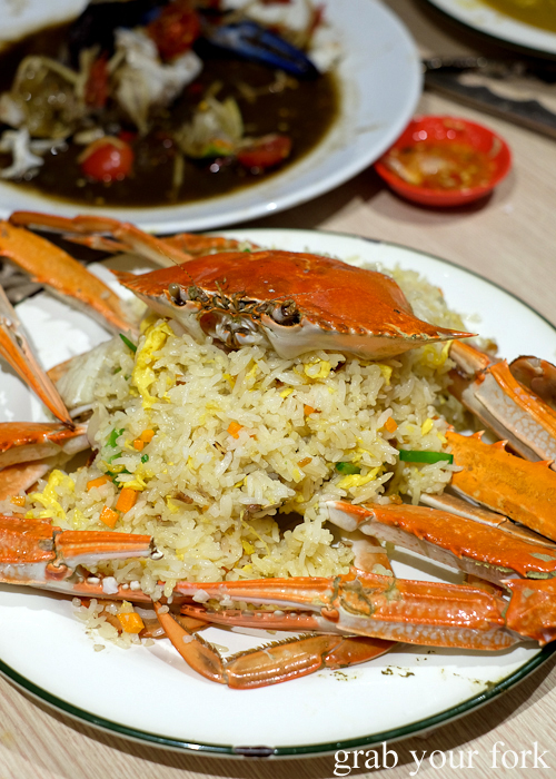 Crab fried rice at the all-you-can-eat crab festival at Yok Sod Thai at Mr B's in Haymarket Sydney