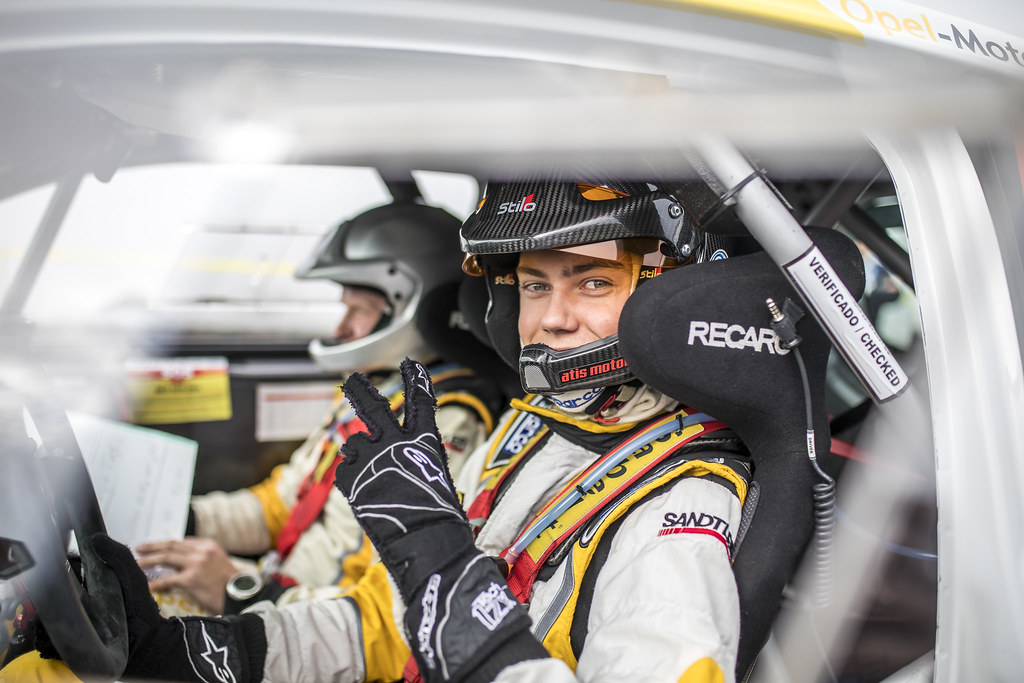 43 SESKS Martin (lva), RENARS Francis (lva),Adac Opel rallye junior team, OPEL ADAM R2, portrait during the 2018 European Rally Championship ERC Azores rally,  from March 22 to 24, at Ponta Delgada Portugal - Photo Gregory Lenormand / DPPI