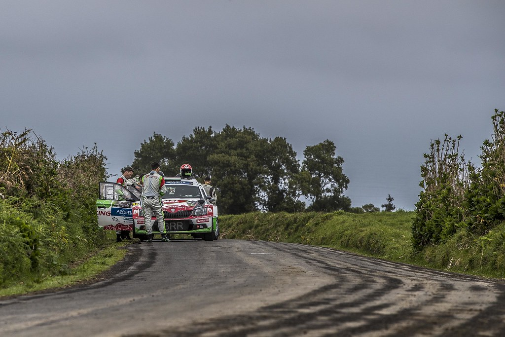 24 HERCZIG Norbert (hun), FERENCZ Ramon (hun), SKODA FABIA R5, portrait during the 2018 European Rally Championship ERC Azores rally,  from March 22 to 24, at Ponta Delgada Portugal - Photo Gregory Lenormand / DPPI