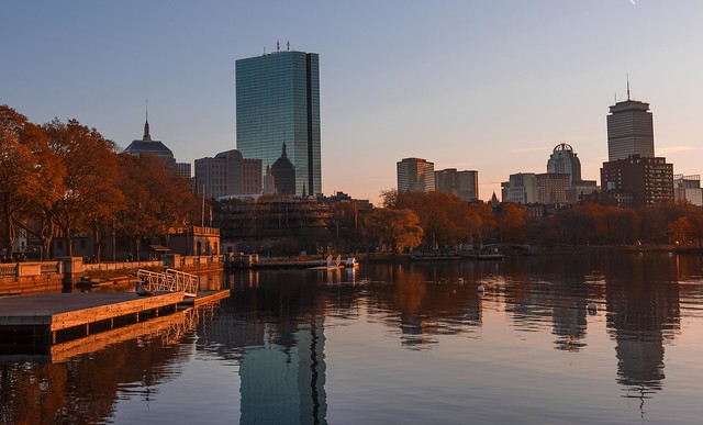 Sunset on the Esplanade - Boston