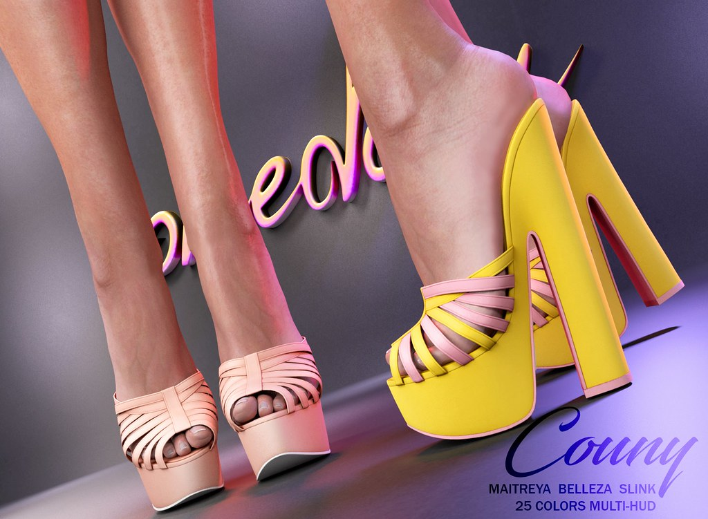 "Phedora. for Shoetopia - ""Couny"" Mules♥ - TeleportHub.com Live!"