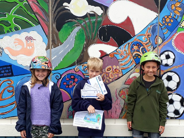 Helmet winners