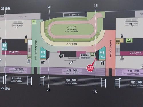 福島競馬場の2階フロアマップ中央部分