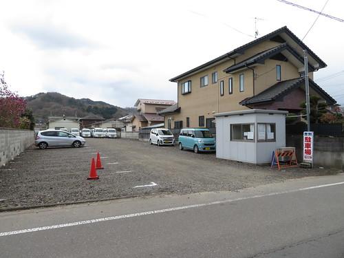 福島競馬場の東口付近の民間駐車場