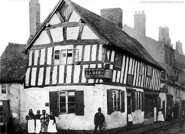 "The ""Old Barrell"" Inn was a timber-framed house, where as far back as the sixteenth century, stood on the corner of Bell Street, and Victoria Street."