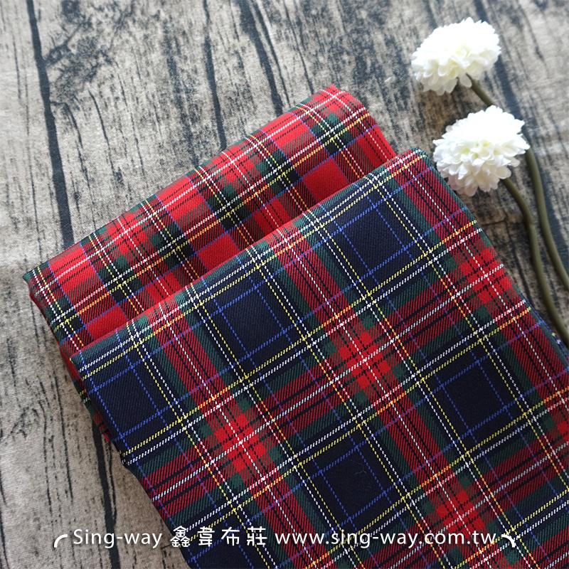 蘇格蘭格紋 百褶裙 裙褲 學生制服 套裝 服裝布料 EC990023