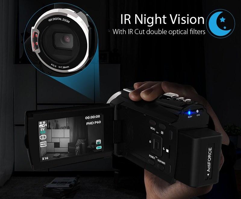 Andoer 4K ビデオカメラ (18)