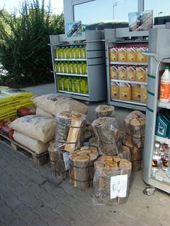 Продажа дров на бензоколонке