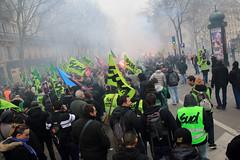 Manifestation cheminote du 22 mars 2018 à Paris - Photo of Mautes