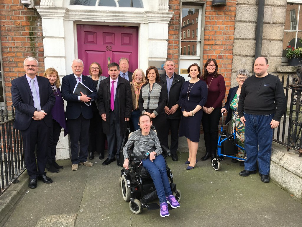 Minister McGrath with members of Disability Committee