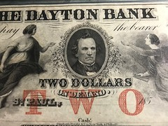 Banknote protector image TWO on face