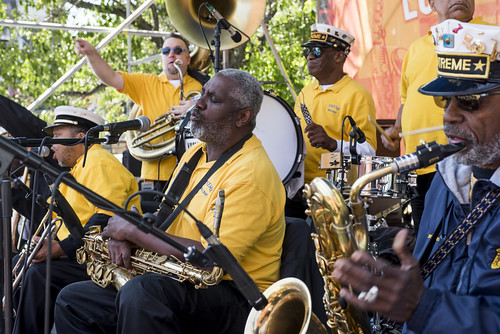 Treme Brass Band perform during French Quarter Fest 2018 on April 15, 2017. Photo by Ryan Hodgson-Rigsbee RHRphoto.com