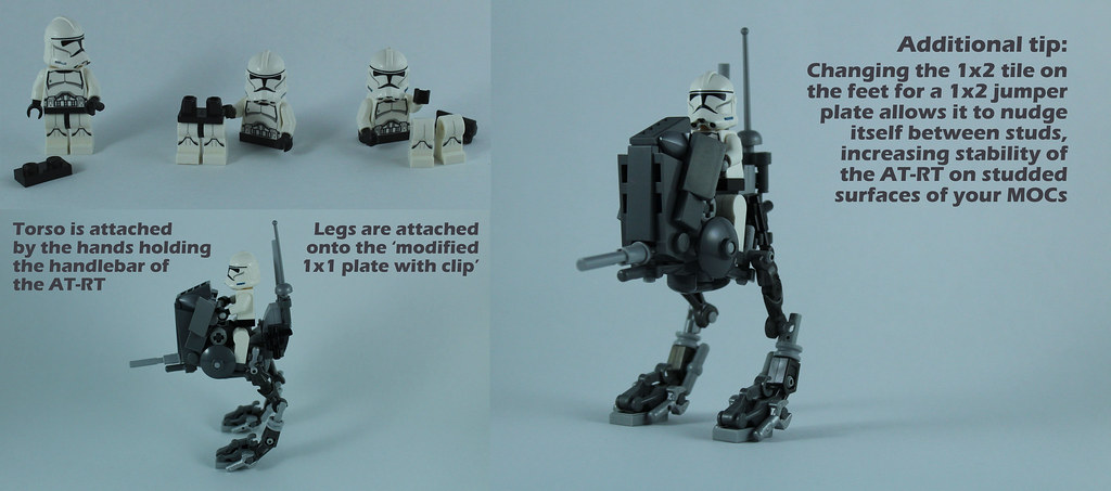 Lego AT-RT Tutorial 8/8 - Mounting the pilot