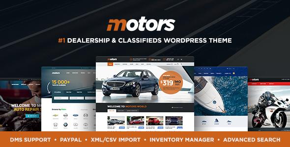 Motors v4.5.3 - Automotive, Car Dealership, Car Rental, Vehicle, Bikes, Classified Listing WordPress Theme