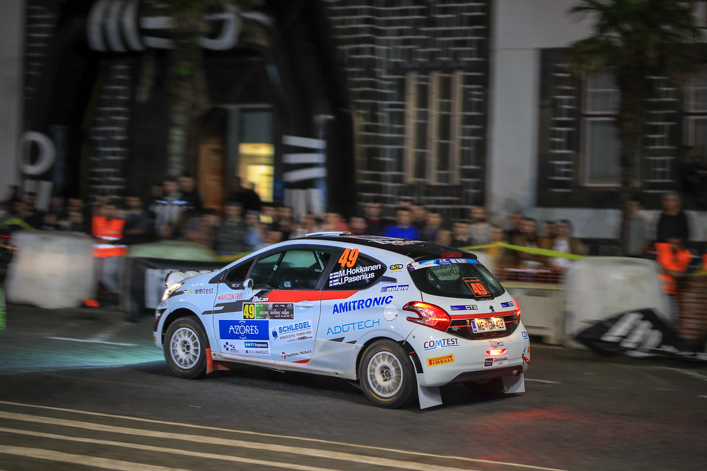 49 HOKKANEN Mika (fin), PASENIUS Jukka (fin), Peugeot 208 R2, action during the 2018 European Rally Championship ERC Azores rally,  from March 22 to 24, at Ponta Delgada Portugal - Photo Jorge Cunha / DPPI