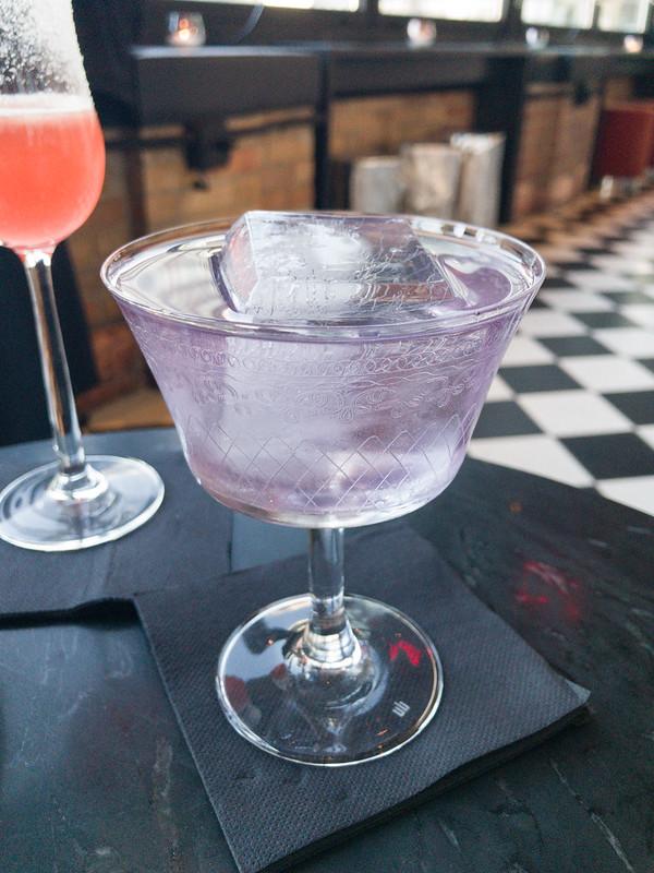 Purple Tuxedo - Empress 1908 Gin, Brennivin Aquavit, Montanaro Bianco, Velvet Falernum, Absinthe, Plum Bitters