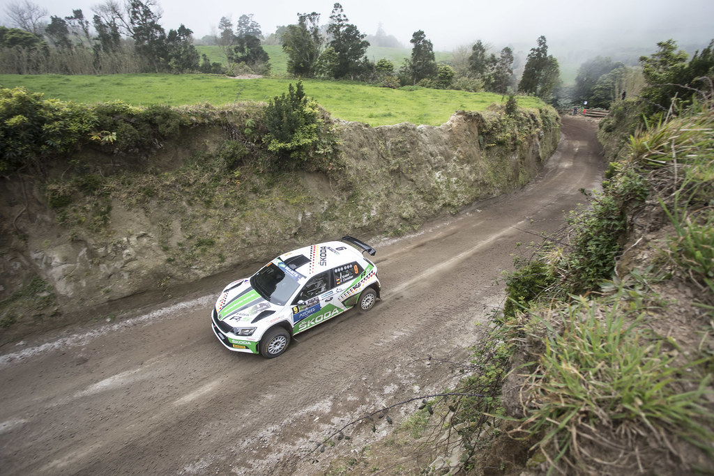 09 KREIM  Fabian (deu), CHRISTIAN Frank (DEU), SKODA AUTO DEUTSCHLAND, SKODA FABIA R5, action during the 2018 European Rally Championship ERC Azores rally,  from March 22 to 24, at Ponta Delgada Portugal - Photo Gregory Lenormand / DPPI