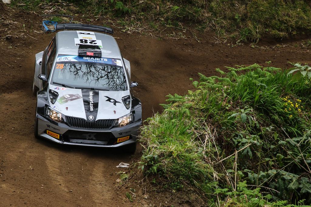 28 AVCIOGLU Orhan (tur), KORKMAZ Burcin (tur), SKODA FABIA R5, action during the 2018 European Rally Championship ERC Azores rally,  from March 22 to 24, at Ponta Delgada Portugal - Photo Jorge Cunha / DPPI